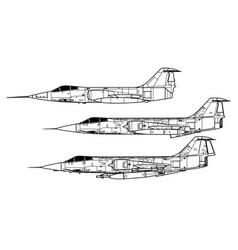 lockheed f-104 starfighter vector image
