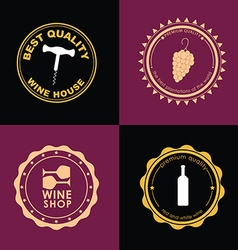 Logo Design for wine shops cafes restaurants vector image