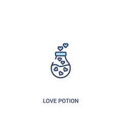 Love potion concept 2 colored icon simple line vector