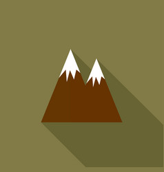 Mountain with a long shadow vector