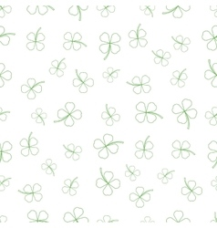 Natural Chamrock Texture Cartoon Clover Leaves vector image