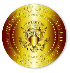 presedent seal in gold vector image