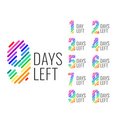 promotional number days left countdown banner vector image