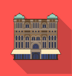 queen victoria building icon in flat style vector image