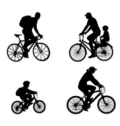 recreational bicyclists vector image