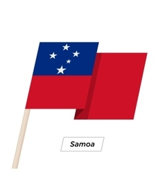Samoa Ribbon Waving Flag Isolated on White vector image
