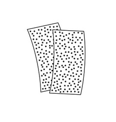 Sandpaper icon two pieces of rough sand paper vector