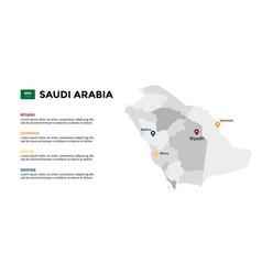 Saudi arabia map infographic template vector