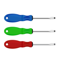screwdrivers colored set vector image
