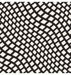 Seamless Black and White Distorted Wavy vector