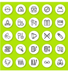 Set of line icon travel and tourism vector