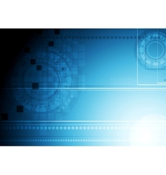 Shiny blue technology background vector