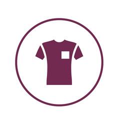 Short sleeve pocket t-shirt icon vector