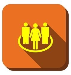 Social Community Longshadow Icon vector