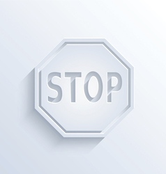 Stop sign with shadow vector image