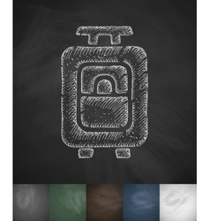 Suitcase icon Hand drawn vector