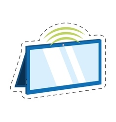 Tablet connection technology mobile vector