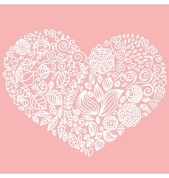 Tattoo floral doodle elements set vector image