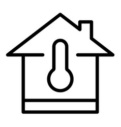 Temperature adjustment icon outline style vector