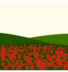The poppy field vector image