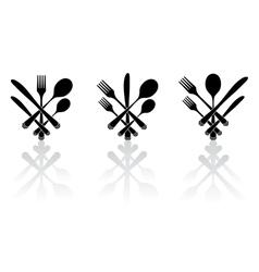 Three cutlery vector