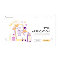 travel application technology in life landing vector image