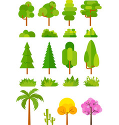 tree set for park and landscape images vector image