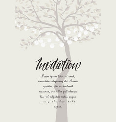 tree with lanterns vector image