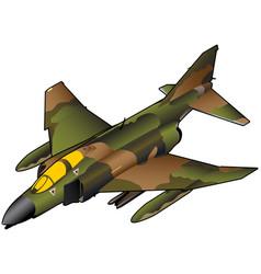 Vietnam era american fighter jet vector