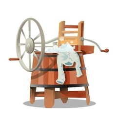 Vintage mechanical washing machine vector image