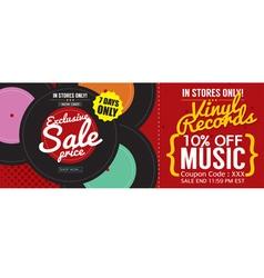Vinyl Sale 500x600 Pixel Banner vector image