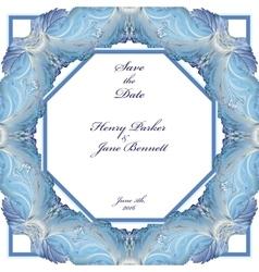Winter frozen glass frame design Wedding vector image