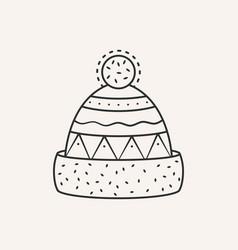 Winter hat vector