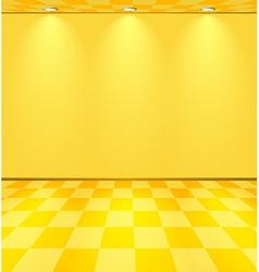 Yellow lightened room vector