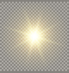 Yellow realistic sun vector