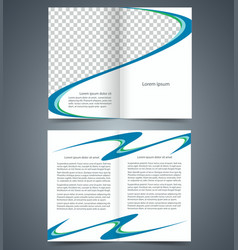 booklet template design with blue vector image