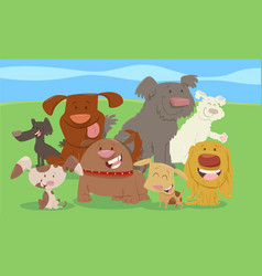 cartoon dogs or puppies group vector image vector image