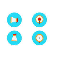 flat megaphone icon set flat speaker or sound vector image vector image