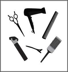 hairdressers tools for barber shop and beauty vector image vector image