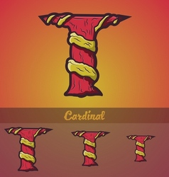 Halloween decorative alphabet - T letter vector image vector image