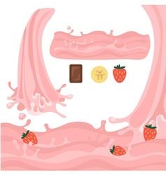 Milk splash design elements vector image vector image
