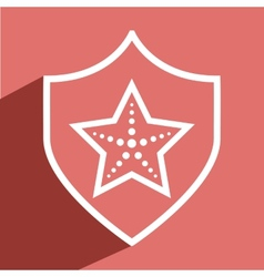 starfish icon vector image vector image