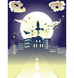 Witch is Coming to the City8 vector image vector image
