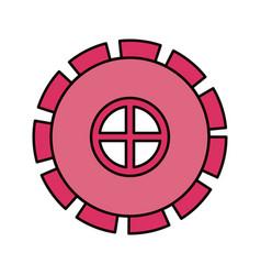 color sketch silhouette gear wheel pinion icon vector image vector image