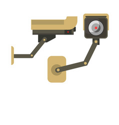 Day and night wireless surveillance camera vector