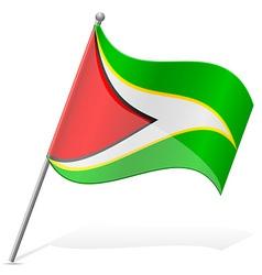 Flag of guyana vector