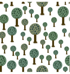 seamless pattern of geometric trees vector image vector image