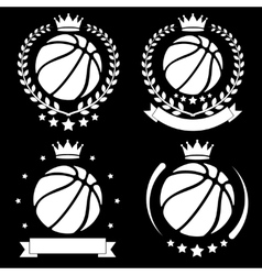 Set of Vintage Basketball Club Badge and Label vector image