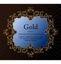 vector vintage royal retro frame ornament gold vector image vector image