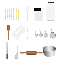 bakery tool 1 vector image vector image